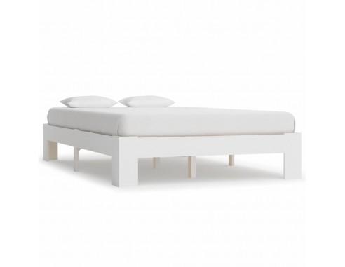 Cadru de pat, alb, 140 x 200 cm, lemn...