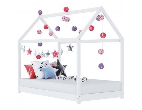 Cadru pat de copii, alb, 70 x 140 cm,...