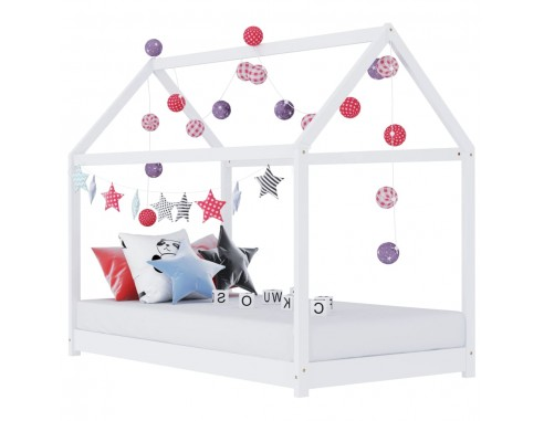 Cadru pat de copii, alb, 80x160 cm,...