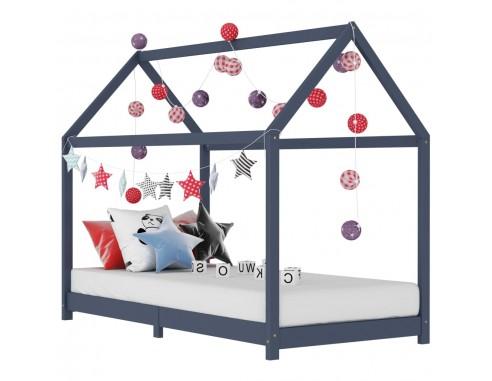 Cadru de pat pentru copii, gri, 80 x...