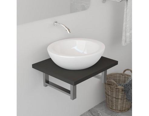 Mobilier de baie, gri, 40 x 40 x 16,3 cm