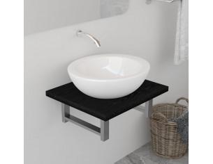 Mobilier de baie, negru, 40...