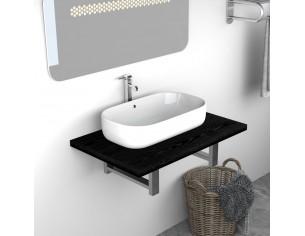Mobilier de baie, negru, 60...