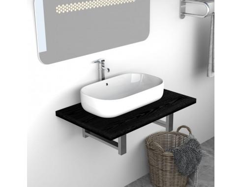 Mobilier de baie, negru, 60 x 40 x...