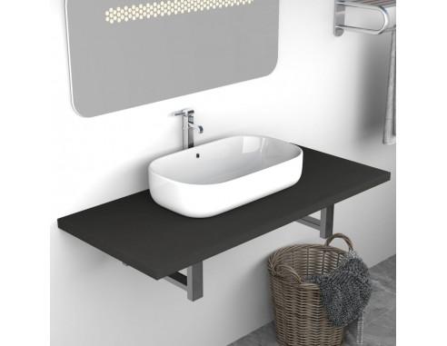 Mobilier de baie, gri, 90 x 40 x 16,3 cm