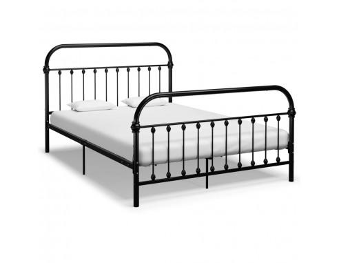 Cadru de pat, negru, 140 x 200 cm, metal