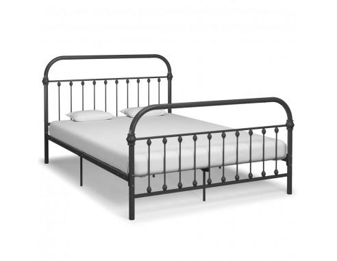Cadru de pat, gri, 140 x 200 cm, metal