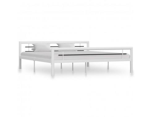 Cadru de pat, alb si negru, 180 x 200...