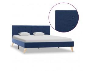 Cadru de pat, albastru, 140...