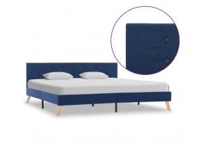 Cadru de pat, albastru, 180...