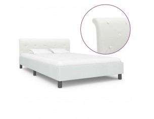 Cadru de pat, alb, 140 x...