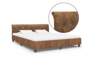 Cadru de pat, maro, 160 x...