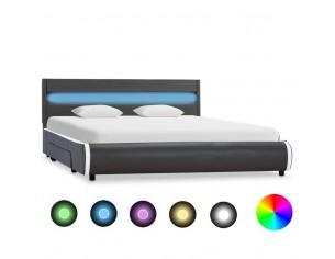 Cadru pat cu LED, antracit,...