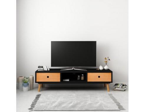 Comoda TV, negru, 120 x 35 x 35 cm,...