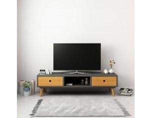 Comoda TV, gri, 120 x 35 x...