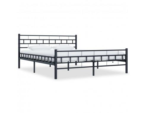 Cadru de pat, negru, 180 x 200 cm, otel
