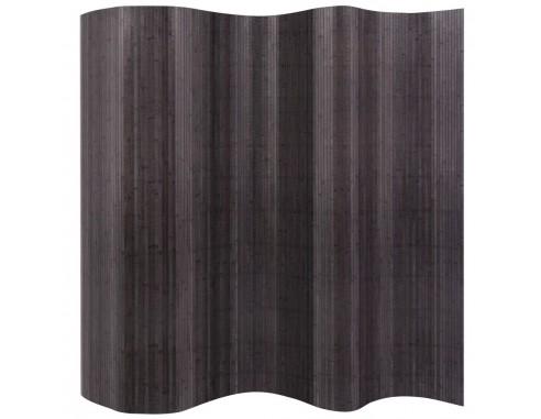 Paravan de camera din bambus, gri,...