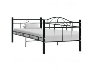 Cadru pat de zi, negru, 90...