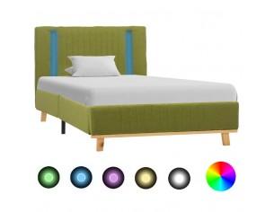 Cadru de pat cu LED, verde,...