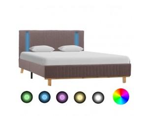 Cadru de pat cu LED, gri...