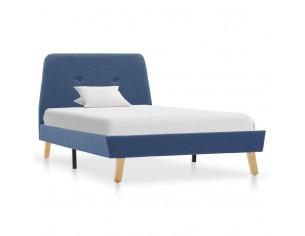 Cadru de pat, albastru, 100...