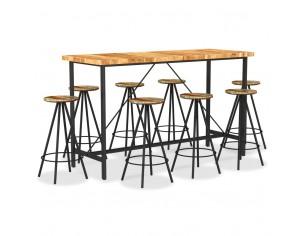 Set de bar, 9 piese, lemn...