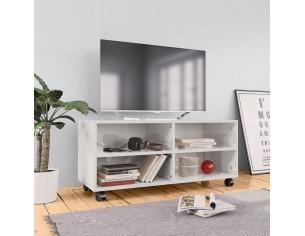 Comoda TV cu rotile, alb...