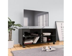 Comoda TV cu rotile, negru...