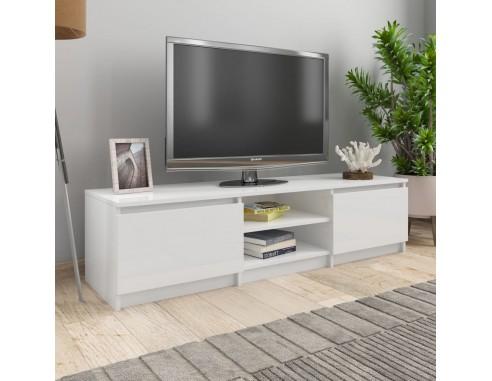 Comoda TV, alb extralucios, 140 x 40...