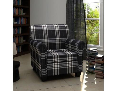 Fotoliu cu perna, negru, material textil