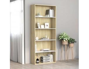 Biblioteca cu 5 rafturi,...