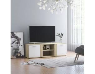 Comoda TV, alb si stejar...