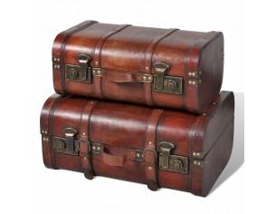 Cufar vintage din lemn, 2...