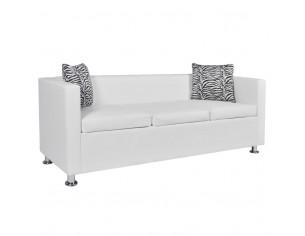 Canapea cu 3 locuri, alb,...