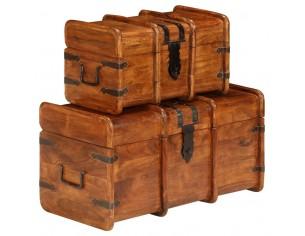 Set cufere, 2 buc., lemn...