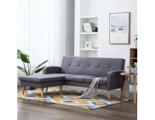 Canapea in forma de L gri...